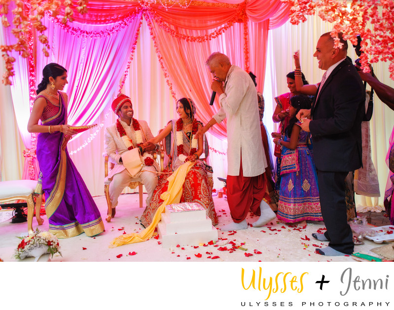 Indian Ceremony in Mandap