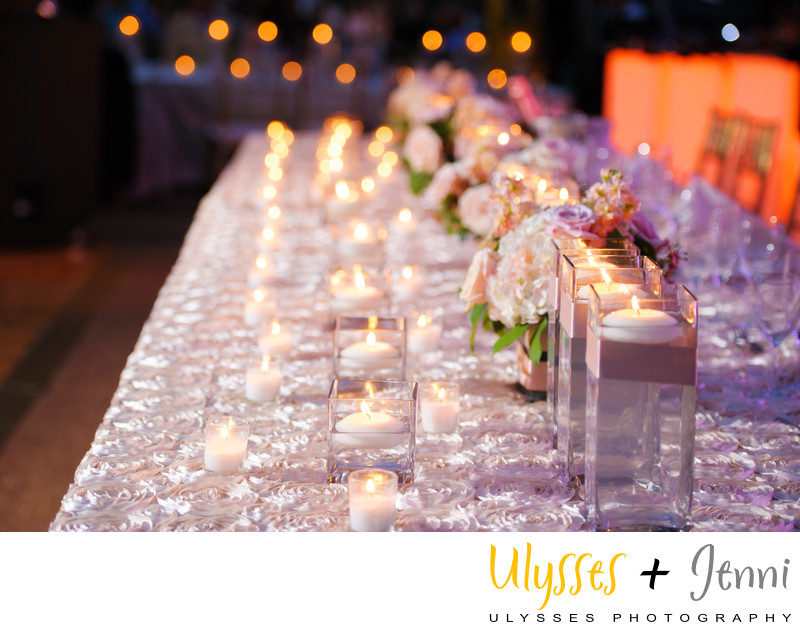 Long Reception Table with Candles
