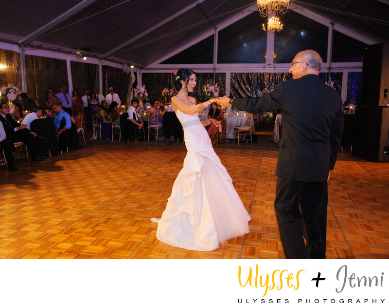 INDIAN BRIDE DANCING WITH DAD  - ULYSSES PHOTOGRAPHY