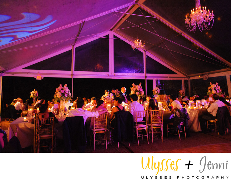 Indian Wedding Tent Pink Lighting Candles Chandeliers