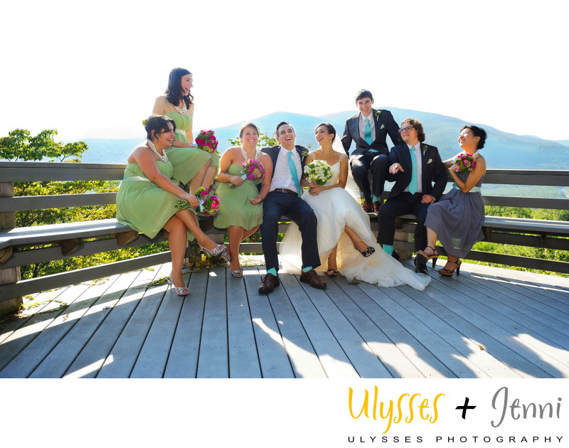Fun Wedding at Onteora Mountain House