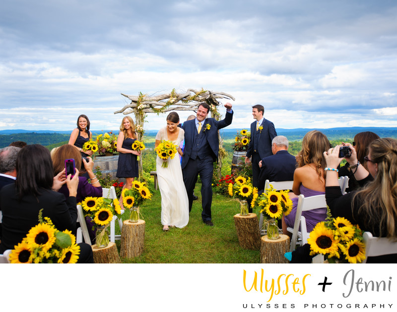 Sunflower Wedding at Benmarl Winery