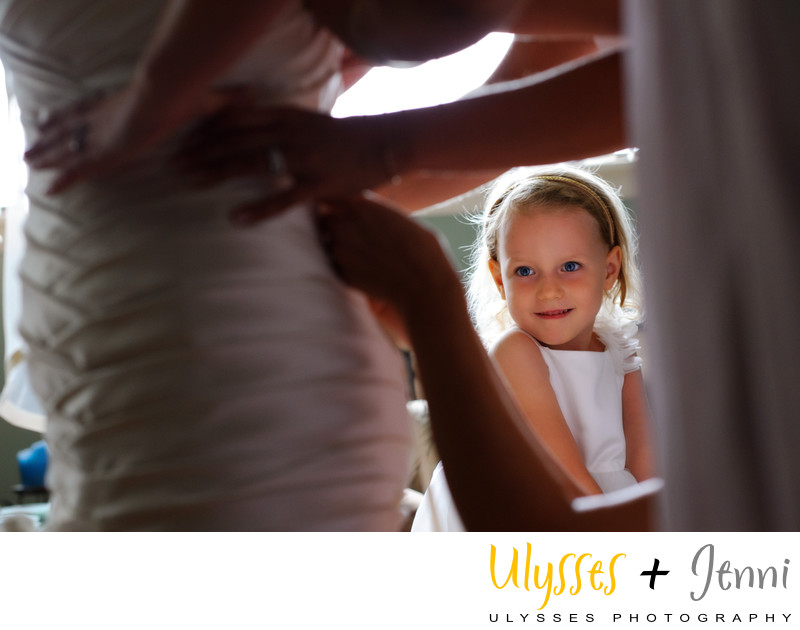 Sweet Flower Girl Photograph