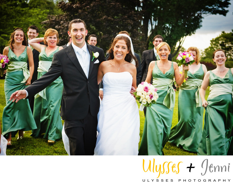 Fun Bridal Party Photographers in the Hudson Valley