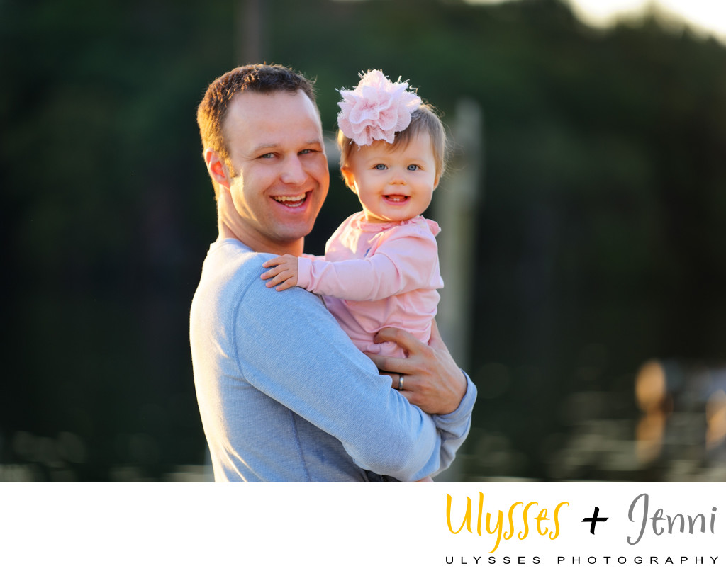 Gorgeous Dad and Baby Portrait