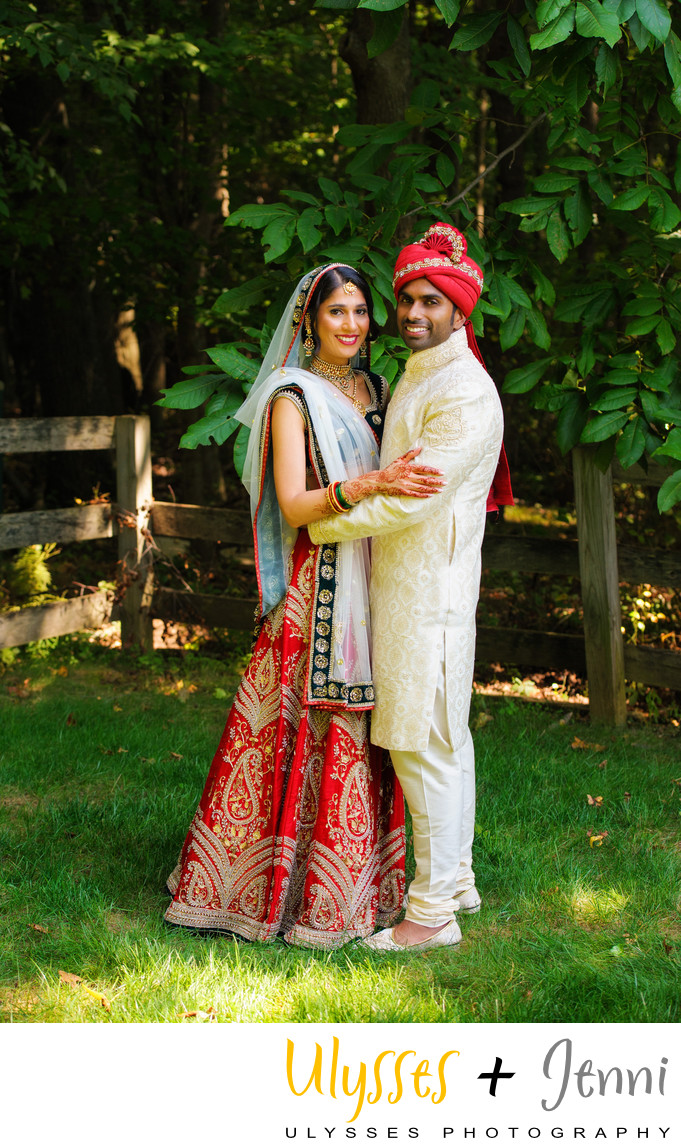Indian Wedding Couple Portrait