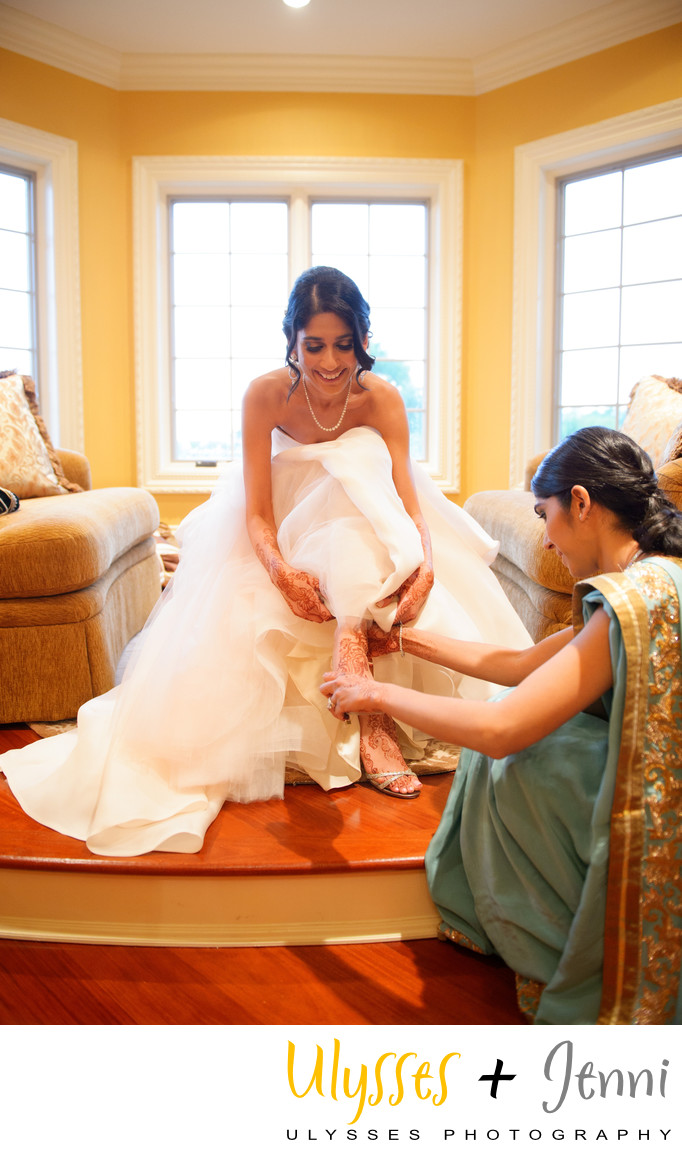 Indian Bride Changing Different Dress for the Reception