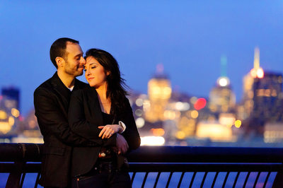 NYC SKYLINE FROM HOBOKEN ENGAGEMENT