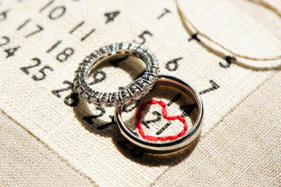 Wedding Bands and Custom Embroidered Calendar