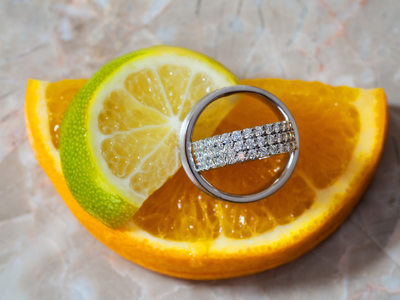 Wedding Bands and Fruit Slices