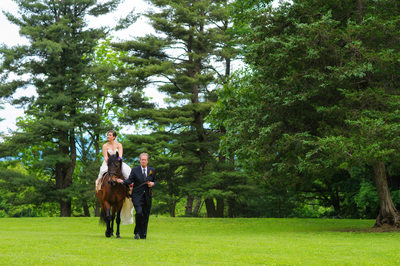 Bride Entering on a Horse
