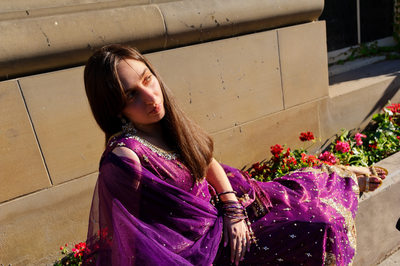 Bride in a Sari at Cornell University