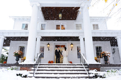 Winter Snow Wedding at Round Hill
