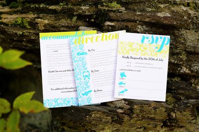 Whimsical Custom Wedding Invitations