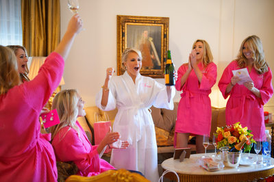 Bridesmaids Robes at The Plaza Hotel