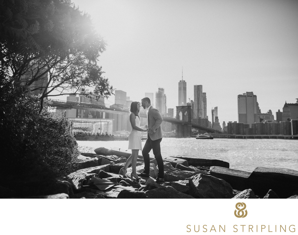 DUMBO Waterfront Engagement Pictures