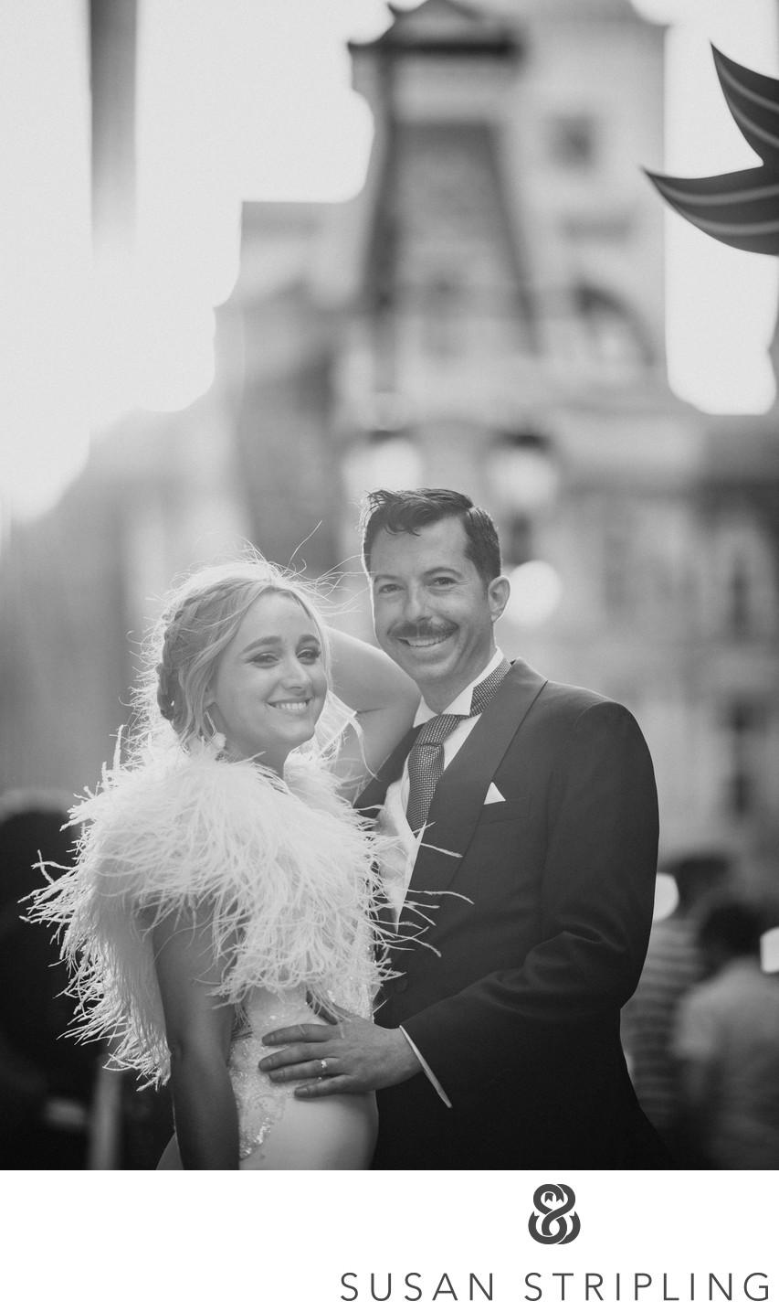 Loews Philadelphia PA Sunset Wedding Pictures