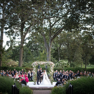 Pine Hollow Country Club Wedding Outside Ceremony