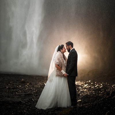 Skogafoss Wedding Photo