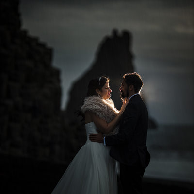 Iceland Black Sand Beach Wedding Photos