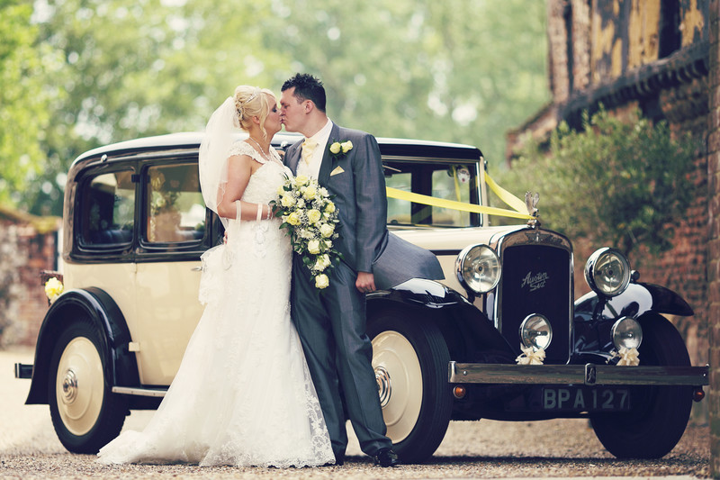 langley abbey norfolk vintage wedding car norfolk
