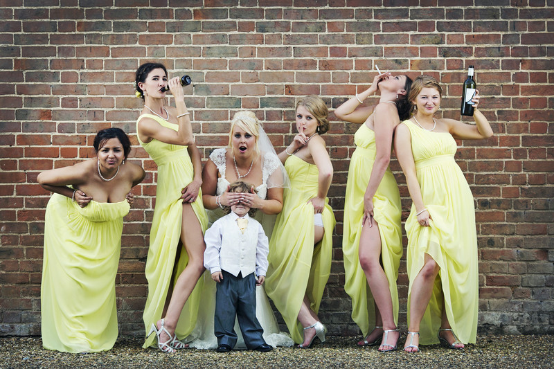 the bridesmaids film wedding photo at norfolk langley abbey brasteds