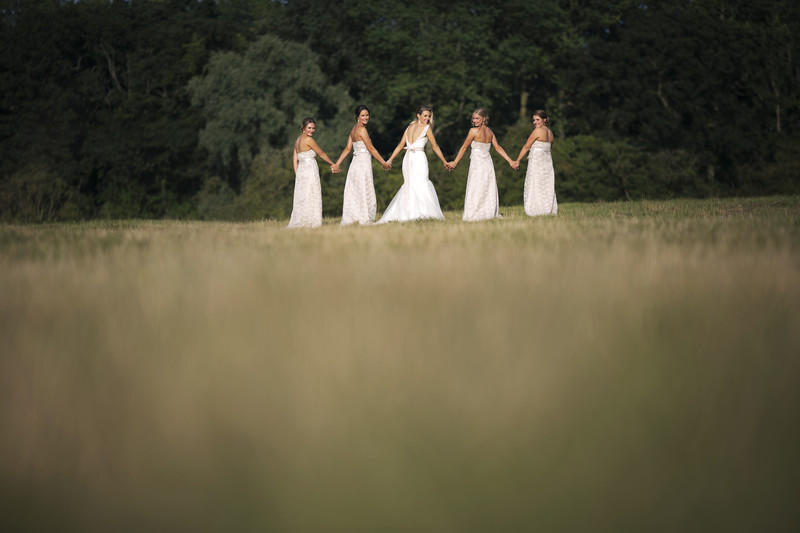 Bridesmaids at langley abbey norfolk wedding