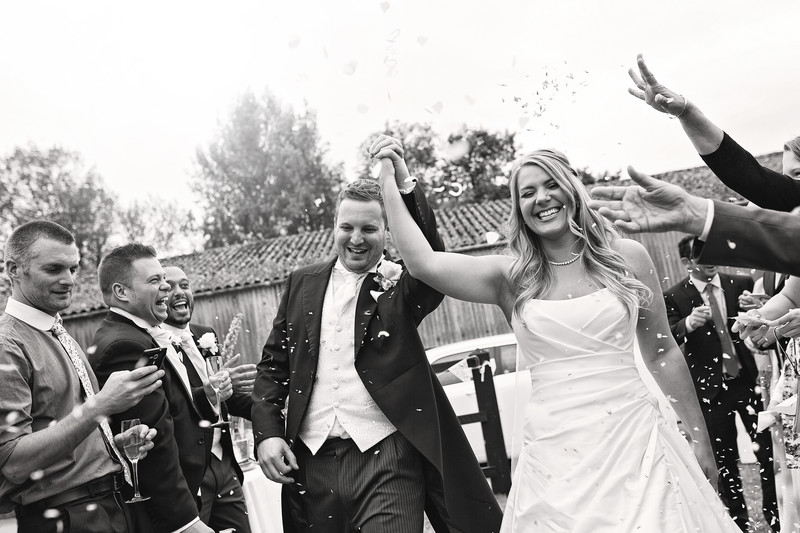 confetti shot langley abbey norfolk photography