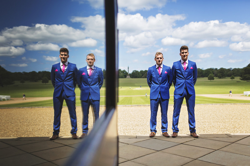 groomsmen hokham hall wedding norfolk photography