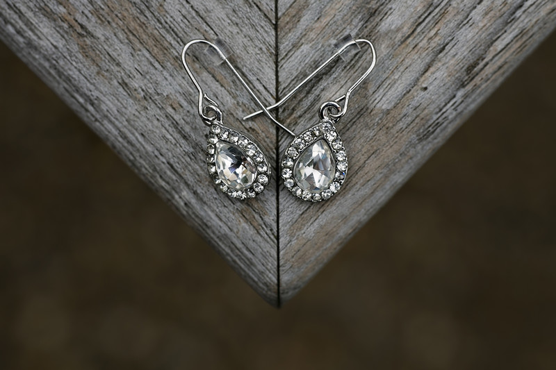 wedding earrings norfolk photography