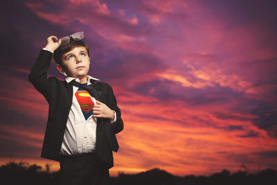 child superman portrait photography
