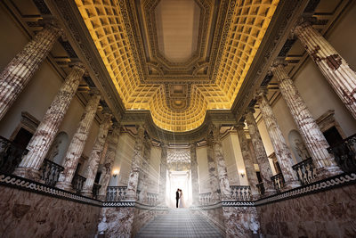 the marble hall holkham hall wedding photography