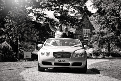bentley wedding car elms barn norfolk photography