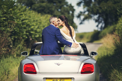 bentley car elms barn norfolk wedding