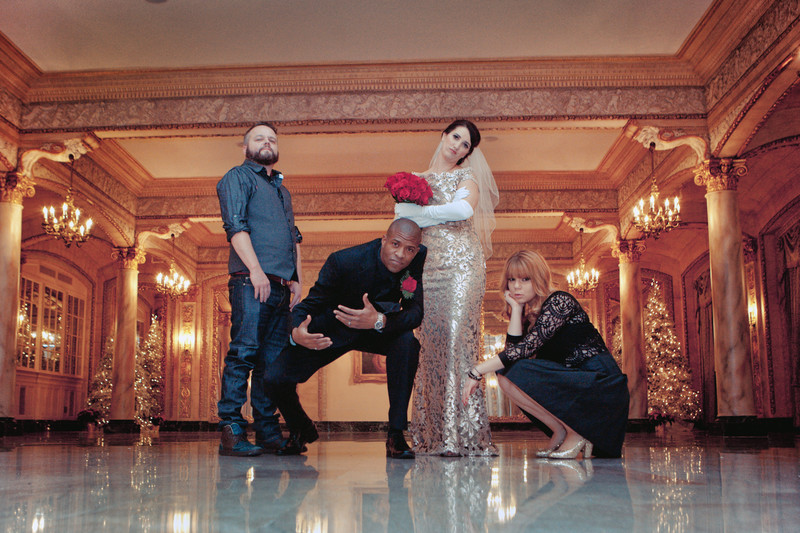 Rockstar Davenport Hotel Wedding Photos