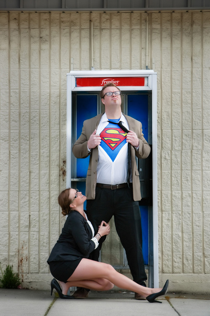 Superhero Theme Engagement Photos