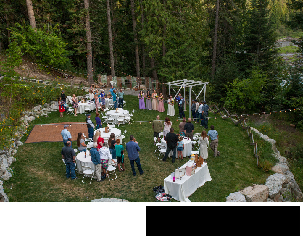 intimate-wedding-ceremony-riverside-outdoor-summer