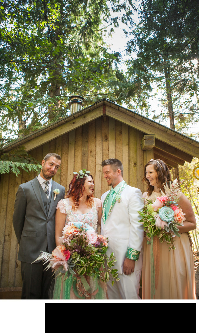 laughing-bridal-party-outdoors