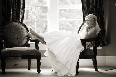 Bride at Glover Mansion Spokane Washington