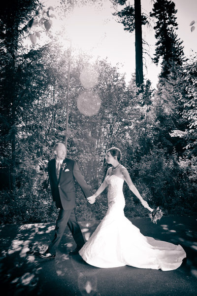 Coeur d'alene Wedding Ceremony Black and White