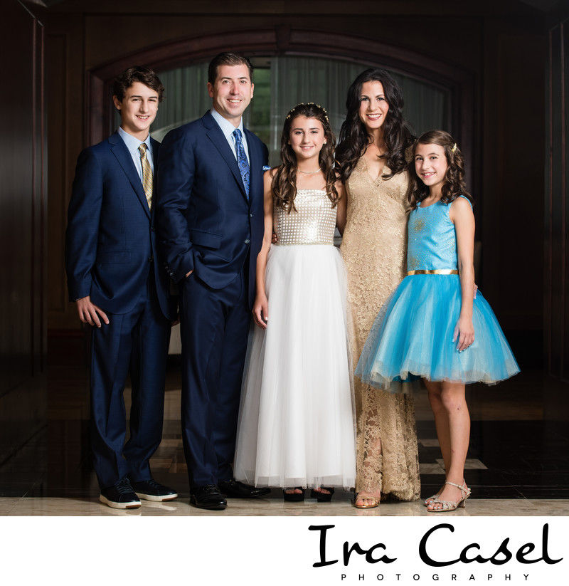 Short Hills Hilton Bat Mitzvah Portrait Photographer