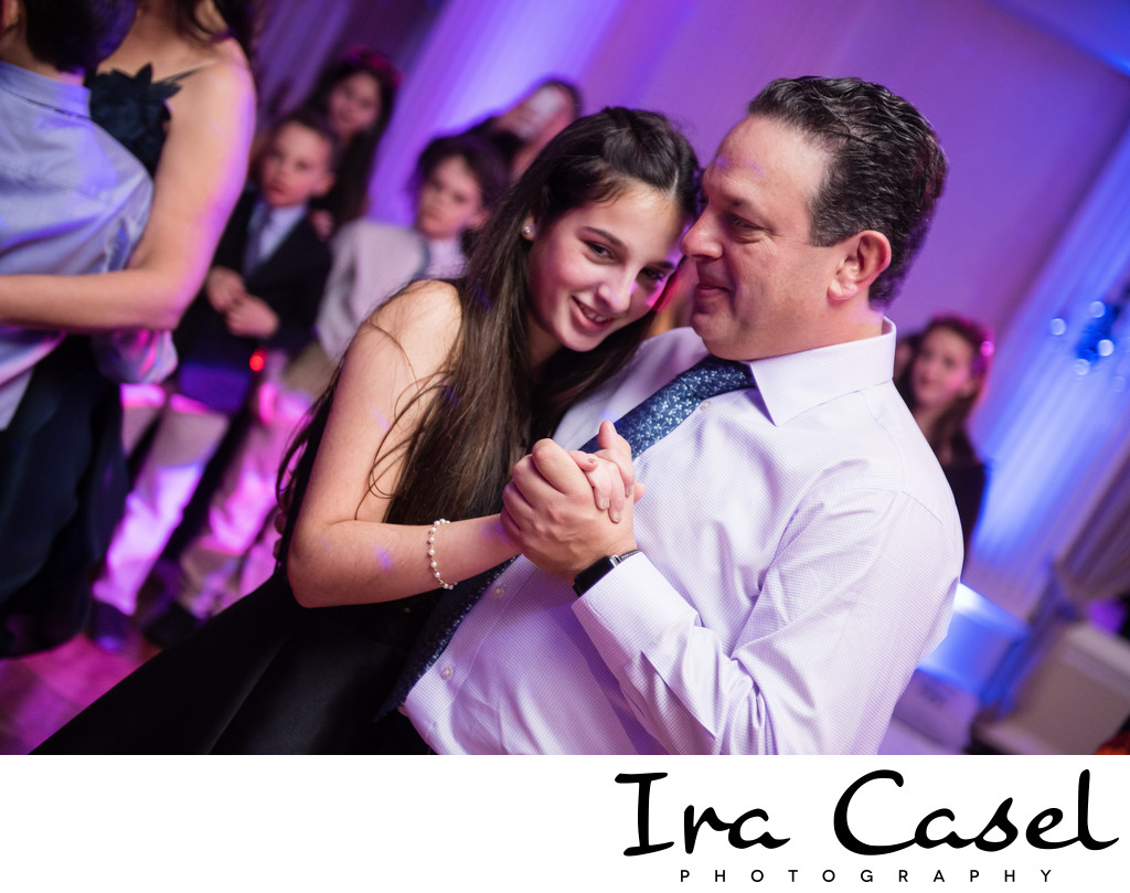 Montclair Bat Mitzvah Pictures: Father-Daughter Dance
