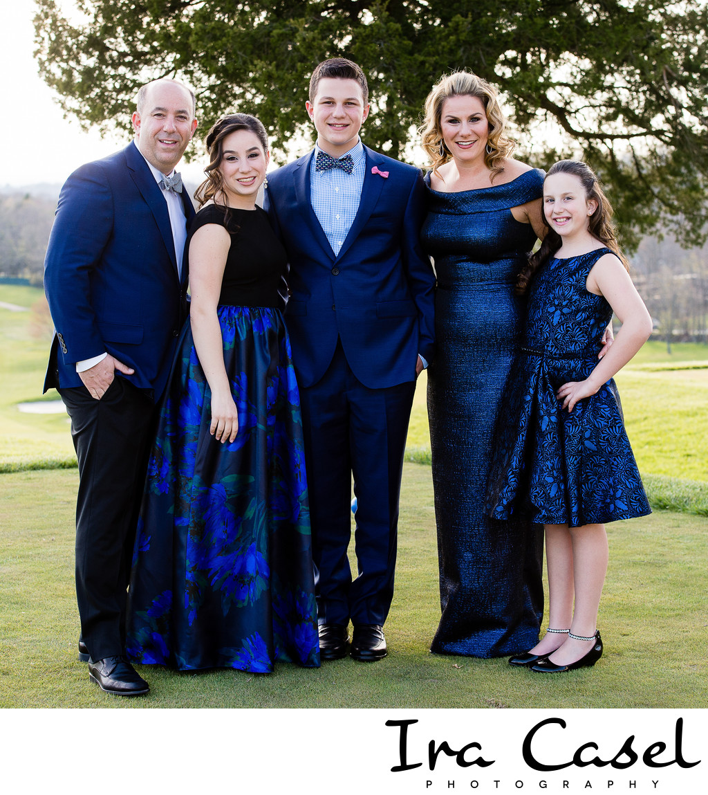 Bar Mitzvah Family Portraits - Crestmont Country Club