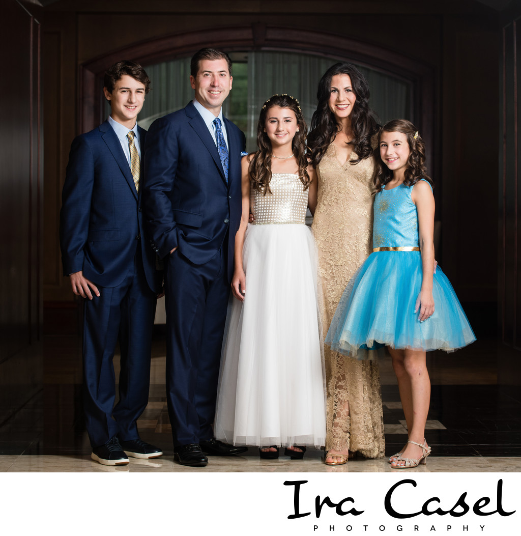 Bat Mitzvah Family Group Portraits