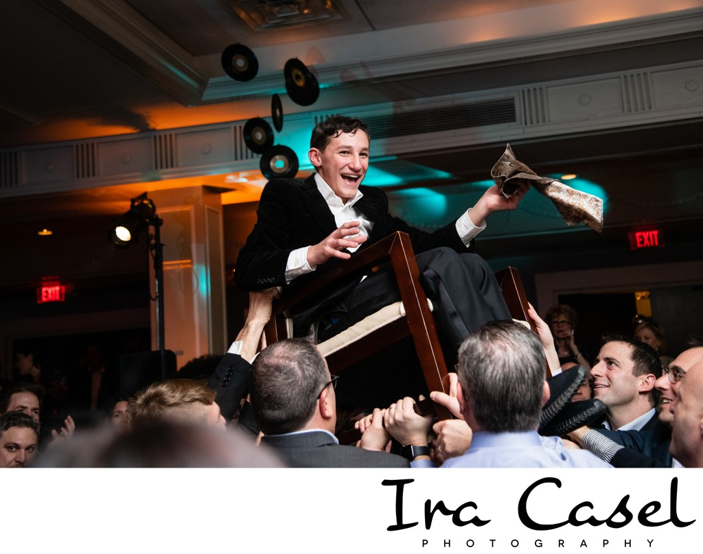 Bar Mitzvah Photography: Horah Pictures Up in the Chair