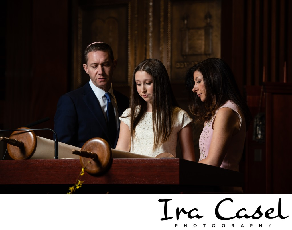 Bat Mitzvah Photography - Family Temple Portraits
