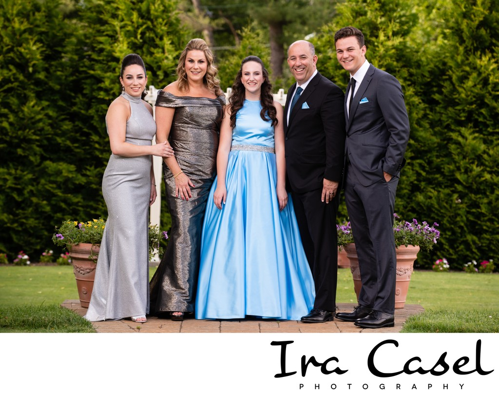 Bat Mitzvah Photographer Formal Family Portraits