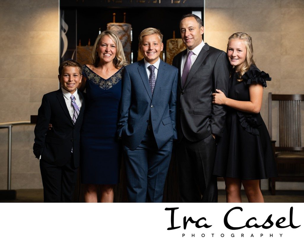 Bar Mitzvah Photography: Family Portraits