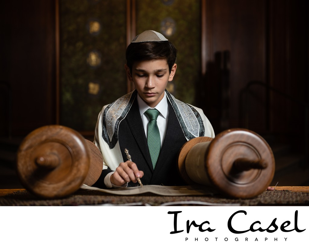 Torah Reading Bar Mitzvah Portrait