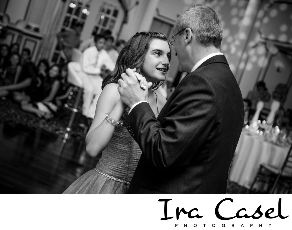 Father-Daughter Dance Picture at Bat Mitzvah